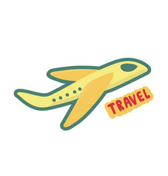 airplane travel symbol sign of tourism and vector image