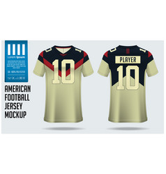 American football jersey mockup template design vector