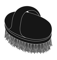animal brushpet shop single icon in black style vector image