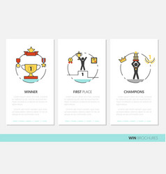 awards and trophy business brochure template vector image