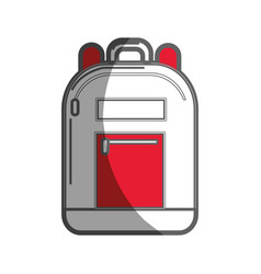 backpack tool to save thing and study vector image