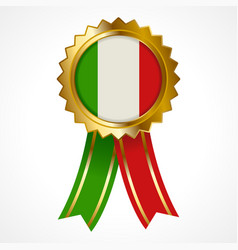 Badge or medal of italy insignia vector