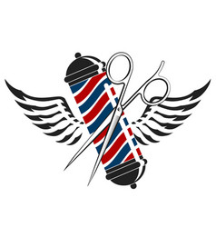 barbershop symbol with scissors vector image