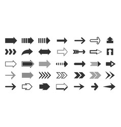 black arrows direction pointers up down left vector image