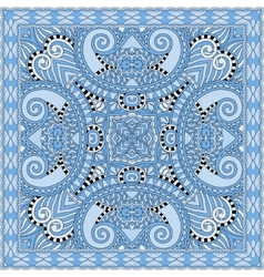 Blue colour floral paisley bandanna Square vector