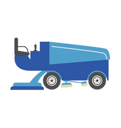 blue ice resurfacer vector image