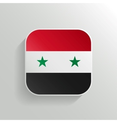 Button - Syria Flag Icon vector image