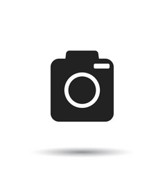 camera icon on isolated background flat vector image