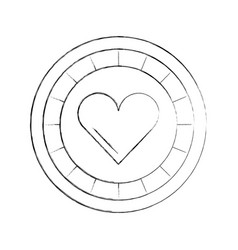 casino chips with heart vector image