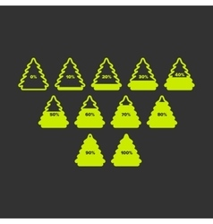 Christmas tree with percent and bars vector image