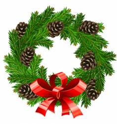 Christmas wreath vector image