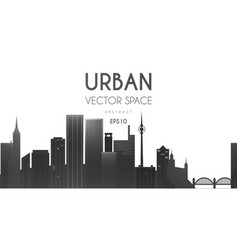 city background urban cityscape vector image