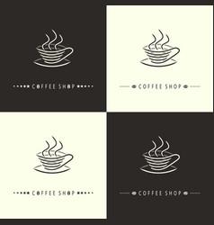 coffee shop-set vector image