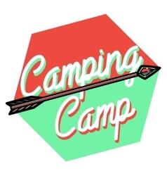 Color vintage Camping emblem vector
