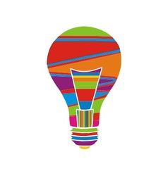 Colorful bulb vector