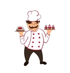 Confectioner isolated vector