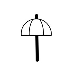 contour umbrella open style to weather protection vector image