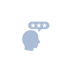 Customer review feedback and rating sign vector