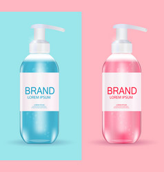 Design cosmetics product template for ads or vector