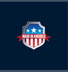 Design made in america shield vector