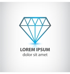 diamond icon vector image