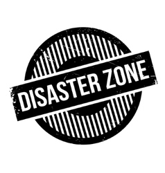 Disaster Zone rubber stamp vector
