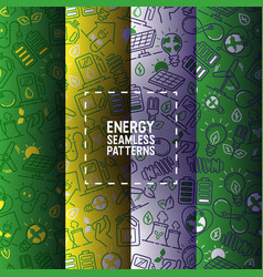 Electricity seamless pattern power vector