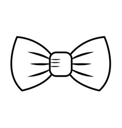 elegant bowtie isolated icon vector image