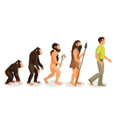 Evolution ape to man process and related concepts vector