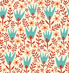 Field flowers pattern vector image