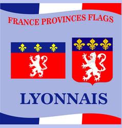 Flag french province lyonnais vector