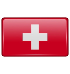 Flags Switzerland in the form of a magnet on vector image