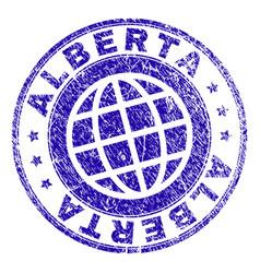 Grunge textured alberta stamp seal vector