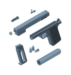 guns parts weapons for war equipments for vector image