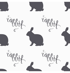 Hipster style hare seamless pattern Rabbit meat vector image