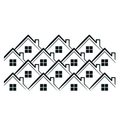 Houses pattern icon vector