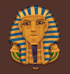 Icon golden head of the pharaoh vector