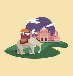 Indian monument design vector