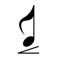 Isolated musical note vector
