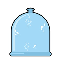 Laboratory jar Glass Bell Glassware for scientific vector