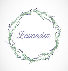Lavender wreath frame design element vector