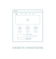 Line website wireframe vector