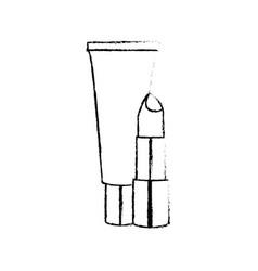 Lipstick and creme design vector