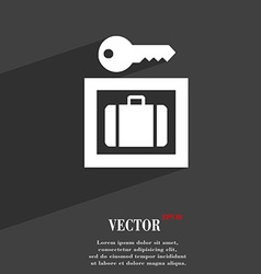 Luggage Storage icon symbol Flat modern web design vector image