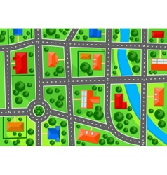 Map of suburb town vector image