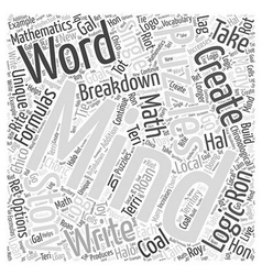 mindpuzzlesthestorieswecreate Word Cloud Concept vector image