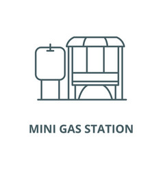 mini gas station line icon linear concept vector image