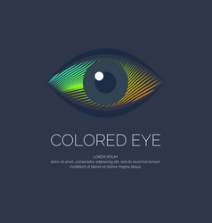 modern colored logo eye vector image