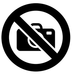 no photo forbidden sign modern round sticker vector image