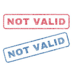Not valid textile stamps vector